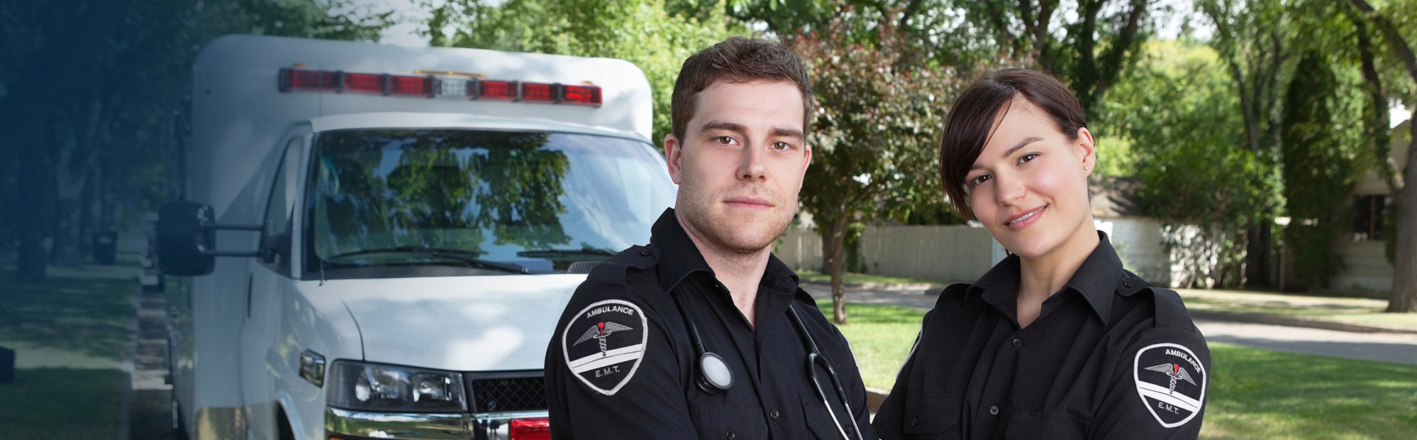Emergency Professionals with Ambulance